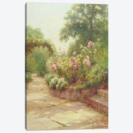 The Garden Steps Canvas Print #BMN427} by Ernest Walbourn Art Print