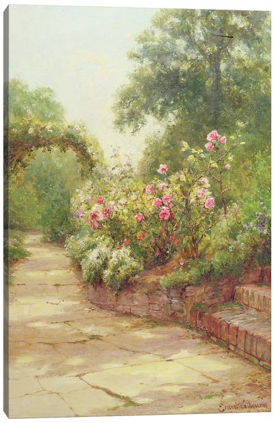 The Garden Steps Canvas Art Print