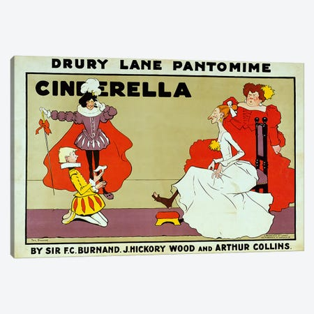 Poster for 'Cinderella' Canvas Print #BMN429} by Tom Browne Canvas Artwork