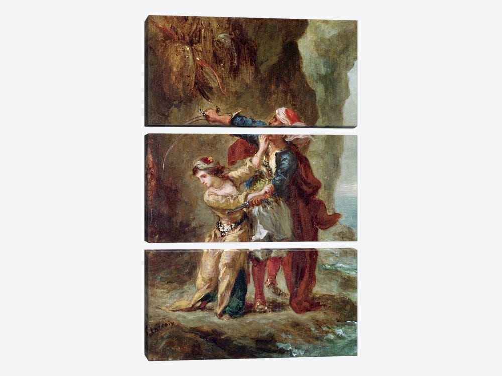 The Bride of Abydos, 1843  by Ferdinand Victor Eugene Delacroix 3-piece Art Print