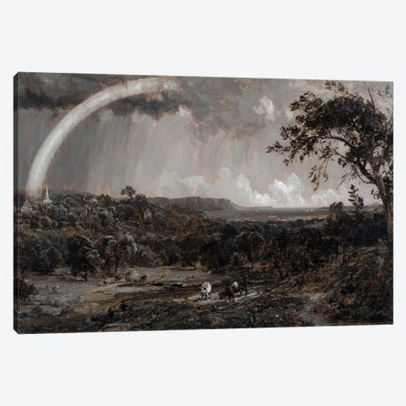 Passing Shower on the Hudson, 1885  Canvas Print #BMN4329} by Jasper Francis Cropsey Canvas Print