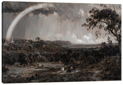 Passing Shower on the Hudson, 1885  Canvas Art Print