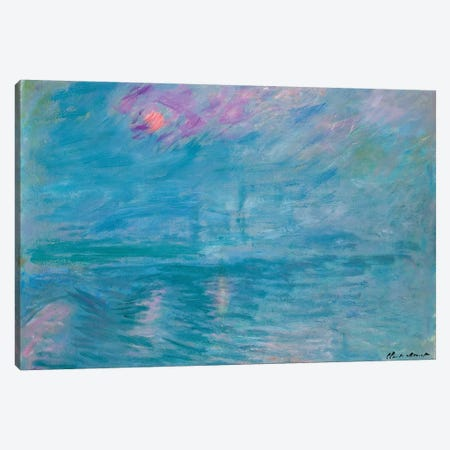 Waterloo Bridge, 1899-1903  Canvas Print #BMN4330} by Claude Monet Canvas Art