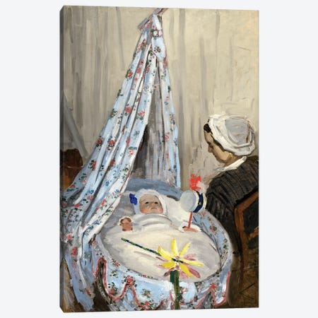 The Cradle, Camille With The Artist's Son Jean, 1867 Canvas Print #BMN4331} by Claude Monet Canvas Artwork