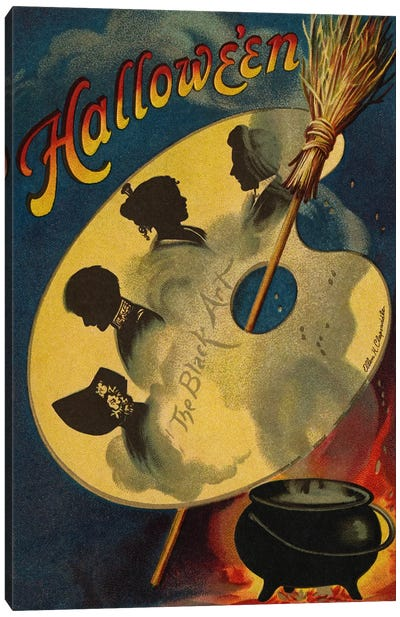 Halloween, the Black Art, 1912  Canvas Art Print