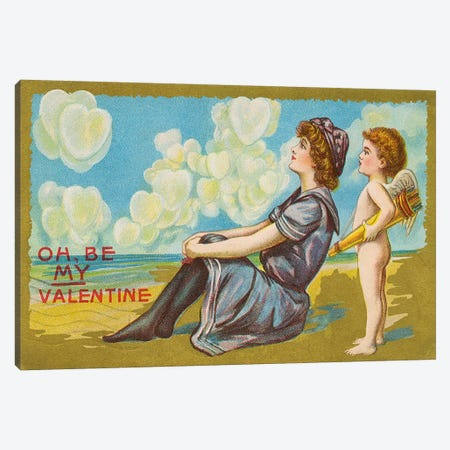 Oh Be My Valentine postcard, 1911  Canvas Print #BMN4333} by American School Canvas Artwork