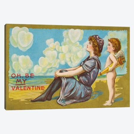 Oh Be My Valentine postcard, 1911  Canvas Print #BMN4333} by American School Canvas Artwork