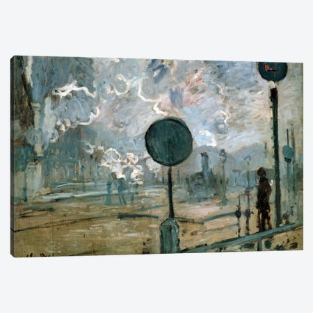 The Gare Saint-Lazare, 1877  Canvas Print #BMN4334} by Claude Monet Canvas Print
