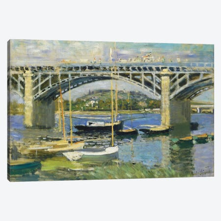 Bridge over the River at Argenteuil, 1874  Canvas Print #BMN4335} by Claude Monet Canvas Print