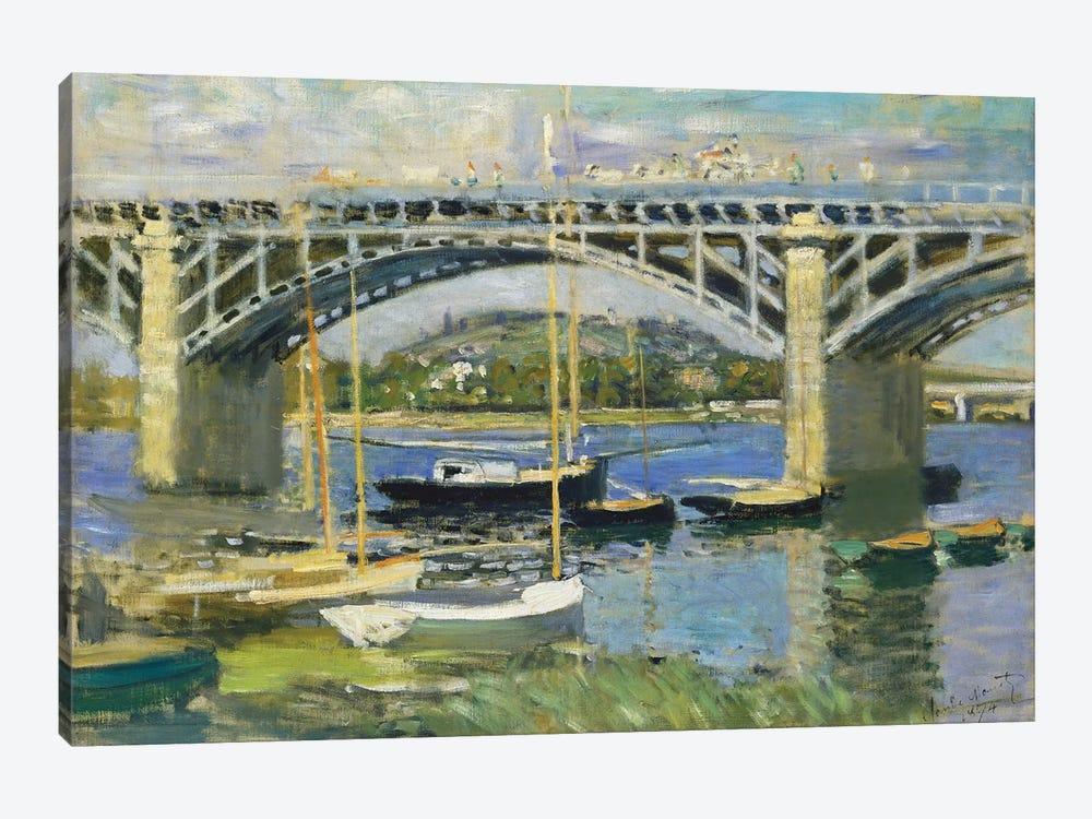 Bridge over the River at Argenteuil, 1874  by Claude Monet 1-piece Canvas Print