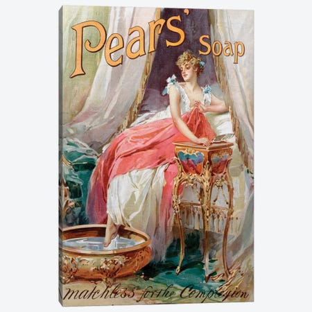 Advertisement for 'Pears' Soap', 1898  Canvas Print #BMN4337} by English School Canvas Print