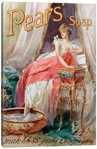 Advertisement for 'Pears' Soap', 1898  Canvas Art Print