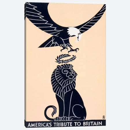 America's Tribute to Britain, The Marchbanks Press, New York, 1917  Canvas Print #BMN4339} by Frederic G. Cooper Canvas Art