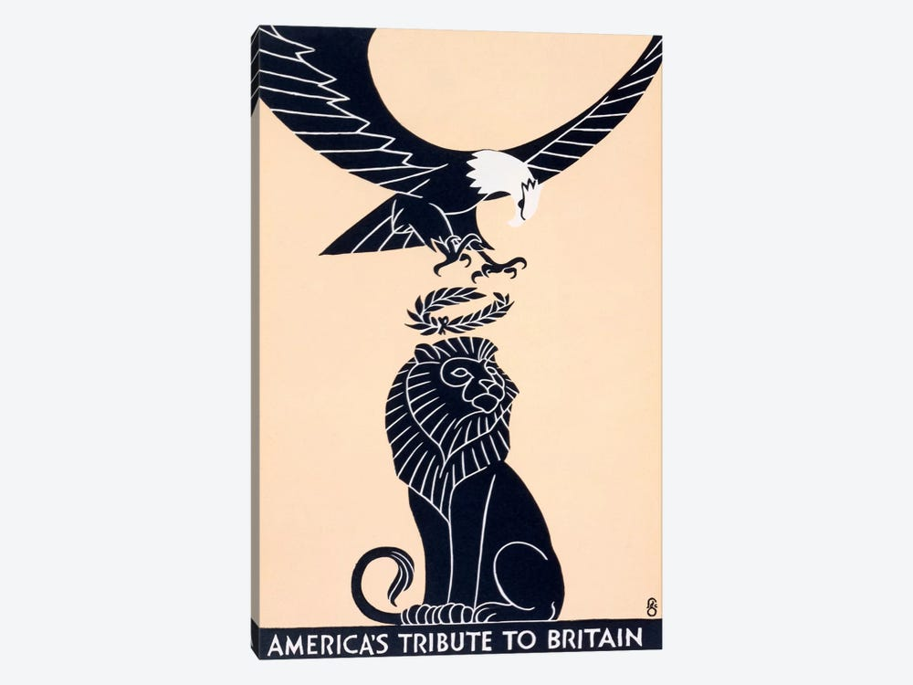 America's Tribute to Britain, The Marchbanks Press, New York, 1917  by Frederic G. Cooper 1-piece Canvas Print
