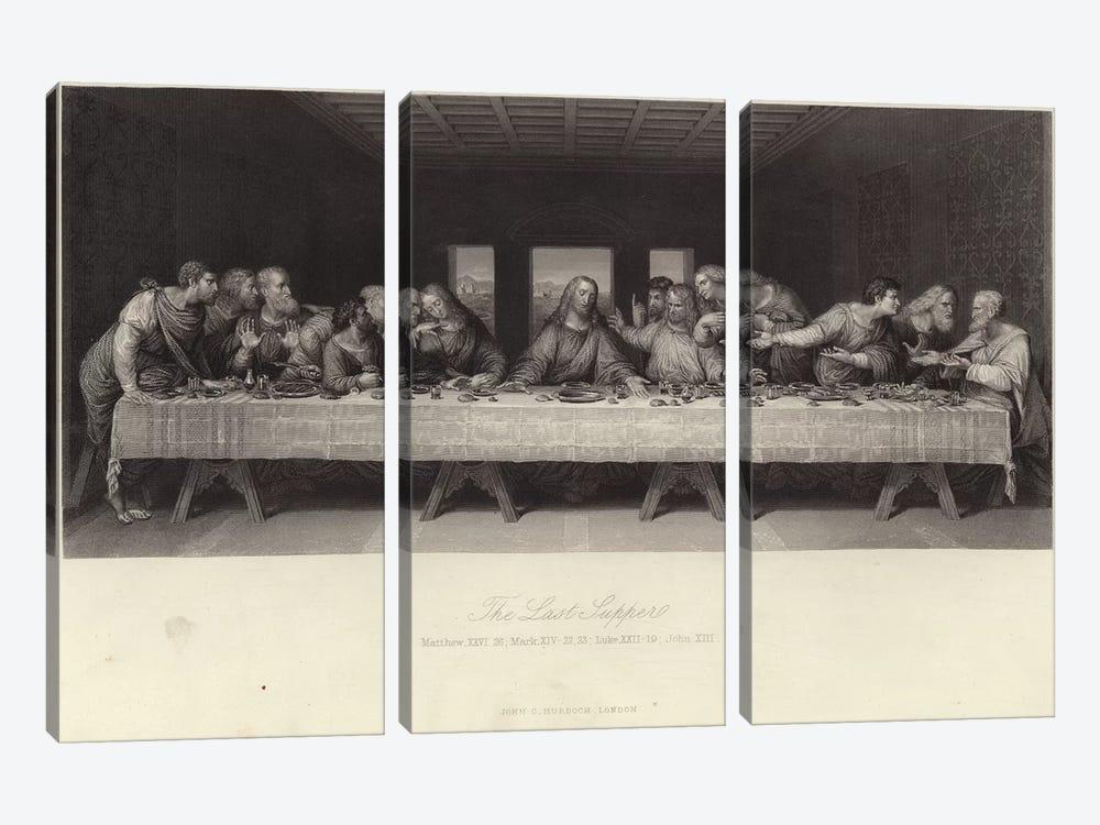 The Last Supper  by Leonardo da Vinci 3-piece Canvas Artwork