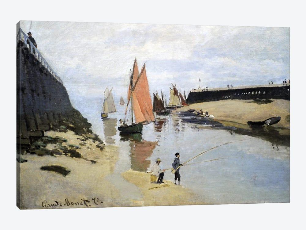 Breakwater at Trouville, Low Tide, 1870  by Claude Monet 1-piece Art Print