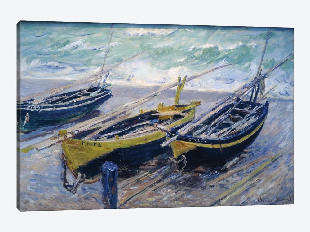 Three Fishing Boats, 1886  by Claude Monet 1-piece Canvas Wall Art