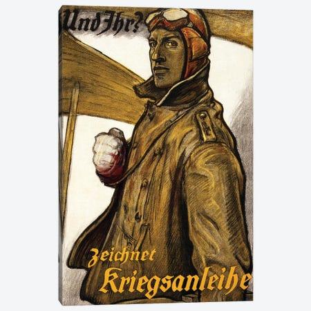 Und Ihr? Zeichnet Kriegsanleiheprinted Munich, 1918  Canvas Print #BMN4346} by Fritz Erler Canvas Wall Art