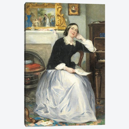 The Love Token  Canvas Print #BMN4349} by Frederick Walker Canvas Art Print