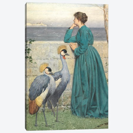 Waiting and Watching  Canvas Print #BMN4350} by Henry Stacey Marks Canvas Art