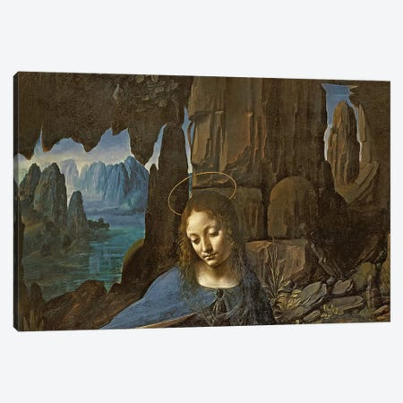 The Virgin of the Rocks  Canvas Print #BMN4352} by Leonardo da Vinci Canvas Art