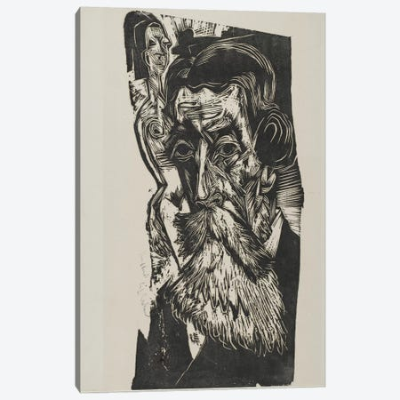 Portrait of Ludwig Schames, 1917-1918 Canvas Print #BMN4356} by Ernst Ludwig Kirchner Canvas Print