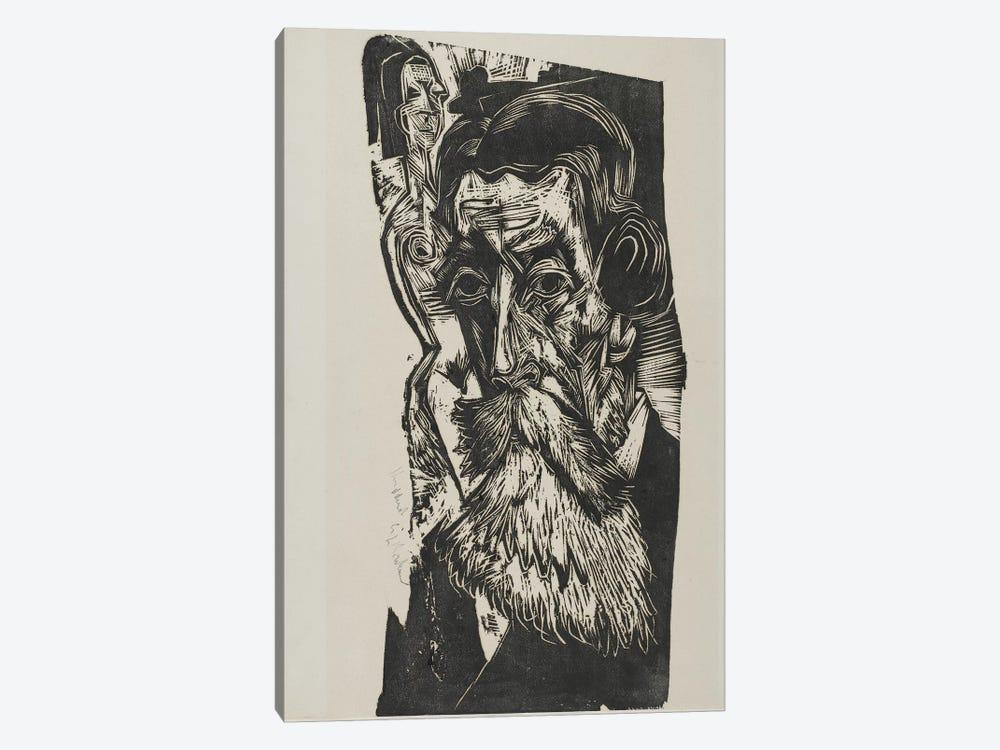 Portrait of Ludwig Schames, 1917-1918 by Ernst Ludwig Kirchner 1-piece Canvas Artwork