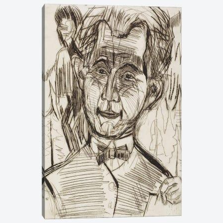 Portrait of Dr. Redslob, 1924 Canvas Print #BMN4357} by Ernst Ludwig Kirchner Canvas Print