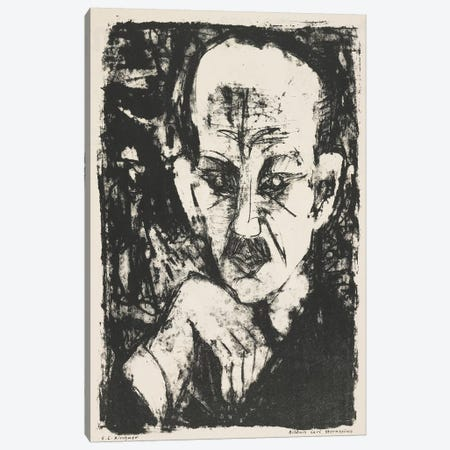 Portrait of Carl Sternheim, 1916 Canvas Print #BMN4358} by Ernst Ludwig Kirchner Canvas Artwork