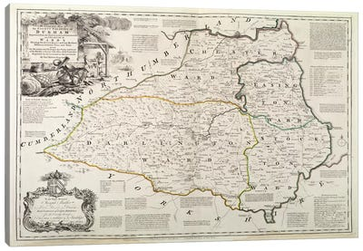 Map of Durham, 1777  Canvas Art Print