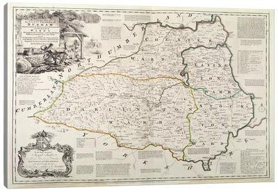 Map of Durham, 1777  Canvas Art Print
