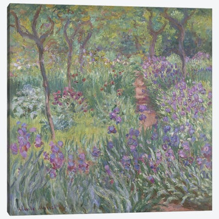The Artist's Garden in Giverny, 1900  Canvas Print #BMN4364} by Claude Monet Canvas Art