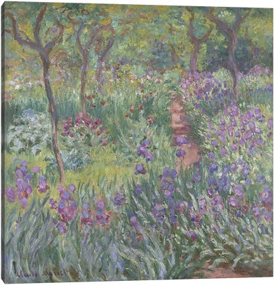 The Artist's Garden in Giverny, 1900  Canvas Print #BMN4364