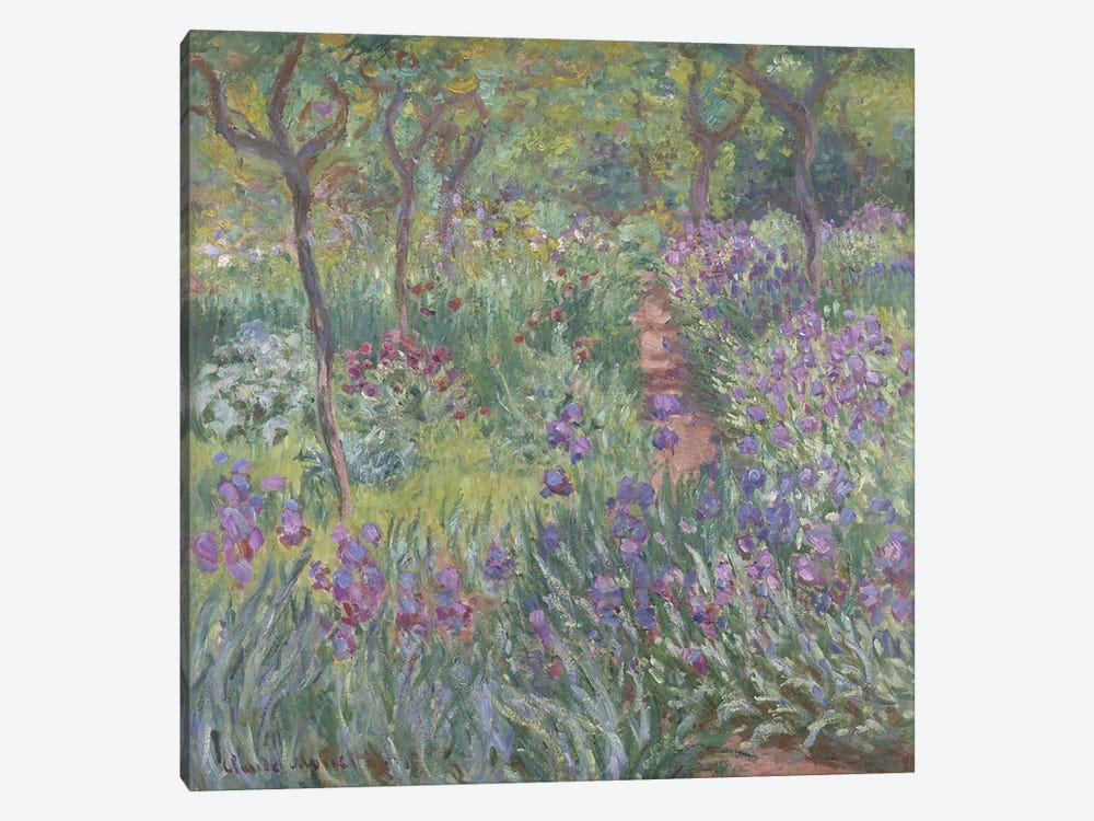 The Artist's Garden in Giverny, 1900  by Claude Monet 1-piece Canvas Print