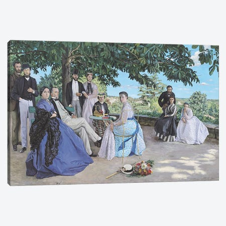 Family reunion, 1867  Canvas Print #BMN437} by Jean Frederic Bazille Canvas Art