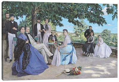 Family reunion, 1867 Canvas Art Print