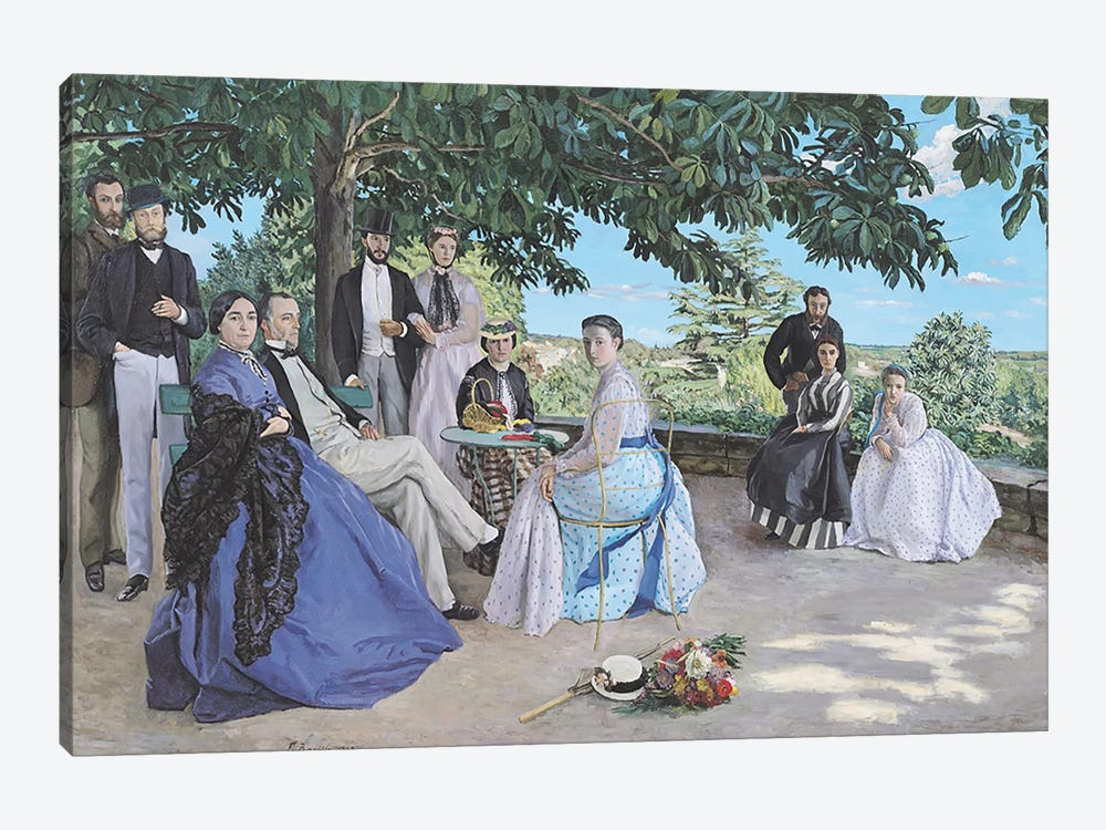 Family reunion, 1867 by Jean Frederic Bazille 1-piece Canvas Artwork