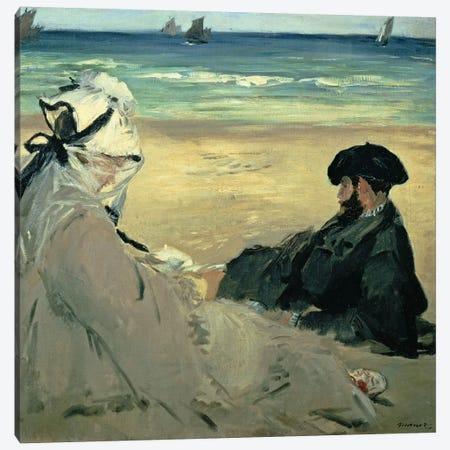 On the Beach, 1873  Canvas Print #BMN438} by Edouard Manet Canvas Print