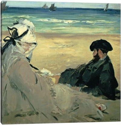 On the Beach, 1873  Canvas Art Print