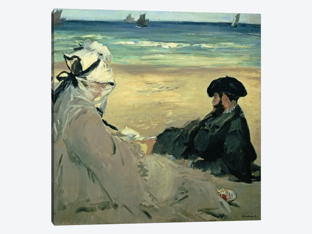 On the Beach, 1873  by Edouard Manet 1-piece Art Print