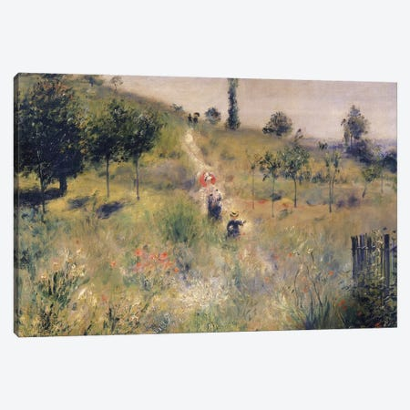The Path through the Long Grass, c.1875  Canvas Print #BMN439} by Pierre-Auguste Renoir Canvas Print
