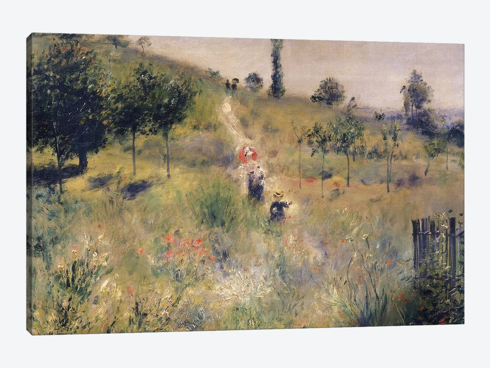 The Path through the Long Grass, c.1875  by Pierre-Auguste Renoir 1-piece Canvas Artwork