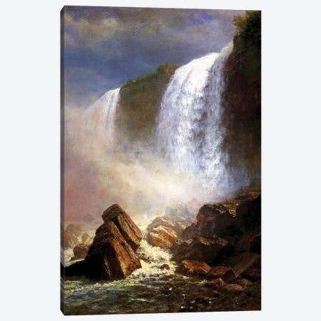The Niagara Falls  Canvas Print #BMN4402} by Albert Bierstadt Canvas Art