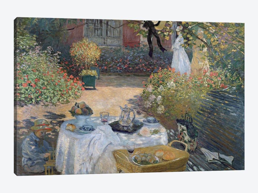 The Luncheon: Monet's garden at Argenteuil, c.1873  by Claude Monet 1-piece Canvas Art