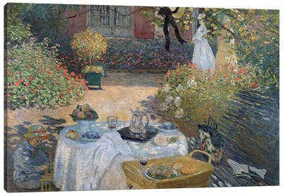 The Luncheon: Monet's garden at Argenteuil, c.1873  Canvas Art Print