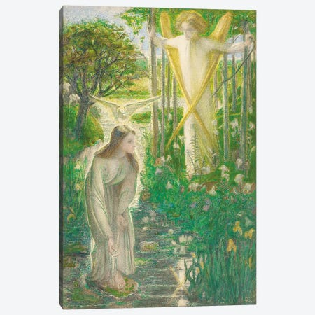 The Annunciation, 1855  Canvas Print #BMN4411} by Dante Gabriel Charles Rossetti Canvas Print