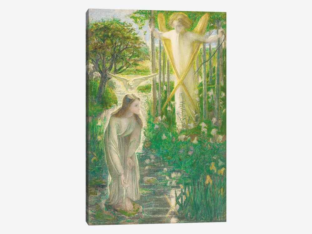 The Annunciation, 1855  by Dante Gabriel Charles Rossetti 1-piece Canvas Artwork