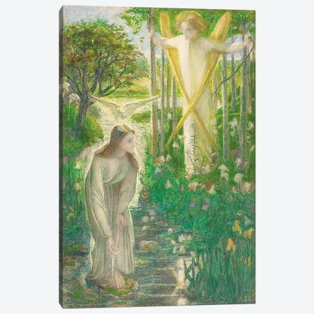 The Annunciation, 1855  Canvas Print #BMN4411} by Dante Gabriel Charles Rossetti Canvas Print