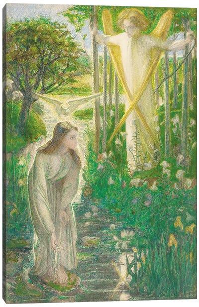 The Annunciation, 1855  Canvas Art Print