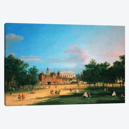 Old Horse Guards and the Banqueting Hall, Whitehall from St James's Park, 1749  Canvas Print #BMN4413} by Canaletto Canvas Print
